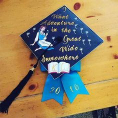 If you're gearing up to decorate your graduation cap for your ceremony (or just thinking about ideas for your future graduation), you might want to get some inspiration from the Internet. It's no surprise that many people turn to Disney movies for decoration ideas. Disney movies, whether it's the classic princess films or newer Pixar movies, are full of inspiration, promise, and excitement.