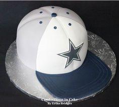 Confections in Cake Dallas Cowboys Kuchen, Dallas Cowboys Birthday Cake, Cowboy Birthday Cakes, Dallas Cowboys Party, Cowboys Cap, Cowboys Football, Dallas Cake, Cowboy Hat Cake, Cowboy Cakes