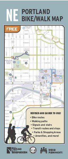 Northeast Portland Bike, Walk Map   Bike + Walk Maps   The City of Portland, Oregon