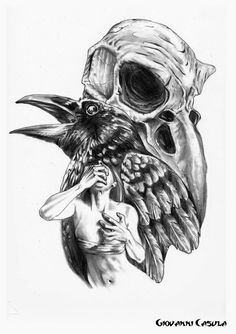 Black Crow With Skull Tattoo On Elbow Photo - Real Photo Pictures . Viking Tattoos, Elephant Tattoos, Bird Ankle Tattoo, Grey Ink Tattoos, Body Art Tattoos, Dark Tattoo, Feather Tattoos, Shoulder Tattoo, Crow Tattoo Design