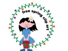 Get this girl and border clipart for your TPT products.This is a small part of the Spring clipart collection that contains more than 50 quality...
