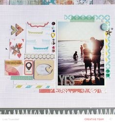 This beautiful layout by Lisa Truesdell used the Wanderlust collection from Studio Calico.