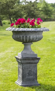 Daventry Cast Iron Pedestal in Lead by Campania International