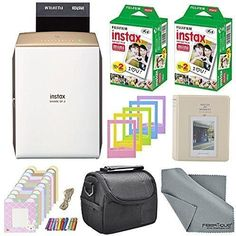 Fujifilm Instax SHARE Smartphone Printer SP-2 w/ 40 Sheets Instax Mini Instant Twin Pack & More