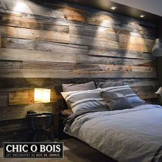 Chic O Bois specializes in barn wood for barn wall coverings, barn furniture or decorative accessories. Source by The post For a barn wood wall cladding, a barn wood furniture or & appeared first on Wooden. Pallet Walls, Wooden Walls, Wooden Wall Bedroom, Wood Beds, Wall Cladding, Barn Wood, Rustic Barn, Wood Furniture, Furniture Ideas