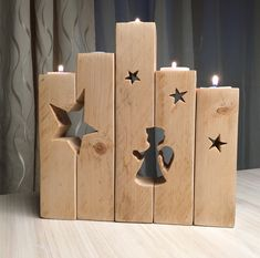 61 Best ideas for diy wood projects outdoor candle holders Christmas Wood Crafts, Pallet Christmas, Christmas Projects, Christmas Decorations, Christmas Candle, Outdoor Candle Holders, Outdoor Candles, Diy Wood Projects, Woodworking Projects