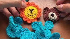 apliques em crochet - YouTube
