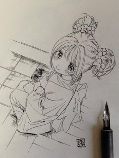 Kawaii Drawing – 75 Picture Ideas – Drawing Ideas and Tutorials Anime Drawings Sketches, Anime Sketch, Kawaii Drawings, Manga Drawing, Manga Art, Cute Drawings, Anime Art, Cartoon Kunst, Anime Kunst