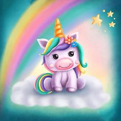 Find Digital illustration of a little cute unicorn stock illustrations and royalty free photos in HD. Explore millions of stock photos, images, illustrations, and vectors in the Shutterstock creative collection. Unicorn Painting, Unicorn Drawing, Cartoon Unicorn, Baby Unicorn, Cute Unicorn, Diy Painting, Painting Tools, Rainbow Unicorn, Unicorn Images