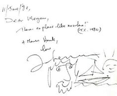 + Джон Леннон, записка для Меган, 1980