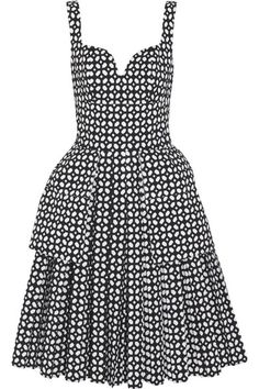 Laser-cut cotton-poplin dress by Alexander McQueen Alexander Mcqueen Boots, Wool Sweaters, Fashion Advice, Poplin Dress, Sustainable Fashion, Dress Skirt, Dress Outfits, What To Wear, Feminine