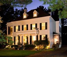 Greek Revival Home In Saratoga Springs   House & Home   Photo via Stribling & Associates