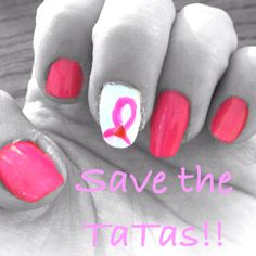 My Race for the Cure nails