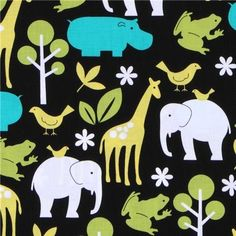 Michael Miller black fabric Zoology zoo animals (Sold in multiples of 0.5 meter) by Michael Miller, http://www.amazon.com/dp/B004K8M3KI/ref=cm_sw_r_pi_dp_YLUYpb0WJ0WPZ