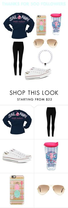 """Thanks for 500 followers"" by mariaaa2003 ❤ liked on Polyvore featuring Max Studio, Converse, Tervis, Casetify, Ray-Ban and Everest"