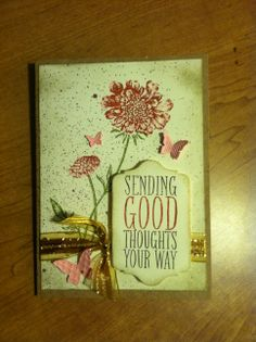 made by @Colleen Sweeney Smith - Stampin' Up! Field Flowers & Perfect Pennants