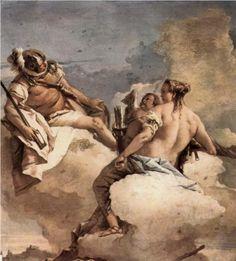 Mars, Venus and Cupid - Giovanni Domenico Tiepolo