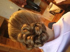 Low up-do  Simple and easy, did for Christie for winter ball