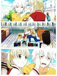 I dont like soul eater not, but I do have to say that these two look adorable in this animating style!!!