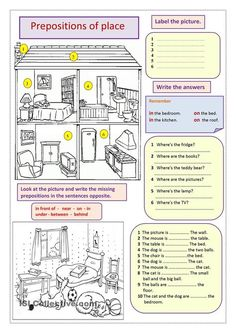 giving directions, prepositions of place, places in a town worksheet - Free ESL printable worksheets made by teachers English Fun, English Words, English Lessons, English Grammar, Teaching English, Learn English, English Language, Grammar Activities, English Activities