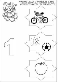 O numero 1 1st Grade Math Worksheets, First Grade Math, Math Class, Math For Kids, 4 Year Olds, Alphabet, Homeschool, Kids Rugs, Baby
