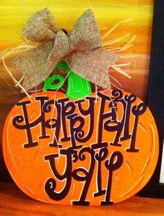 Happy Fall Yall Haunted Halloween, Halloween Town, Halloween Crafts, Holiday Crafts, Holiday Fun, Happy Halloween, Holiday Decor, Fall Art Projects, Fall Things