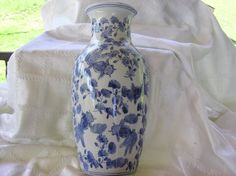 Vintage Oriental Blue and White Fish Wall Pocket Vase 1950's on Etsy, $25.00