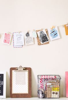 Take the tour of our studio #studio #office #clipboard #postcard