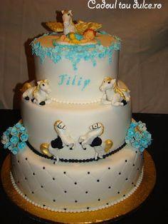 Tort de botez pentru Filip | Cadoul Tau Dulce Party Cakes, Desserts, Food, Tailgate Desserts, Deserts, Essen, Dessert, Yemek, Food Deserts
