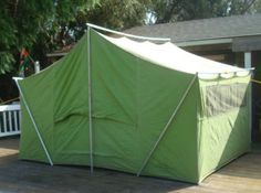 We had an old dark green tent like this u0026 we would go c&ing all the time ! : old style canvas tents - memphite.com