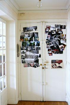 Decorar una puerta con fotografías