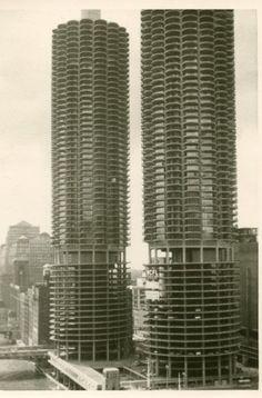 """Original Photo Snapshot of Chicago's Marina City a/k/a """"The Corn Cobs""""...  BAMchicago.com"""
