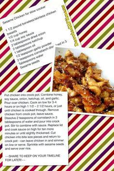 Sesame chicken crockpot