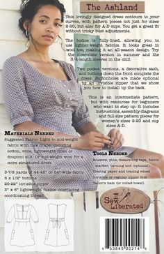 The Ashland Dress Sewing Pattern. $15.95, via Etsy.