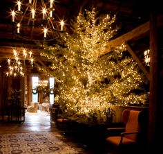 Blackberry Farm TN: December in The Barn. A most magical/wonderful place in the Smokey Mountains.