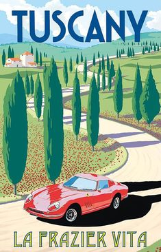 Dreaming of beautiful Tuscany. Where would you like to travel to right now? #vintagetravelposters