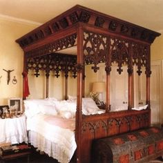 not a huge fan of European furniture, but this Gothic Bed is awesome! by tania
