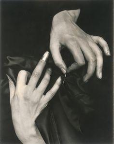 georgia o'keefes hands photo by alfred steiglitz