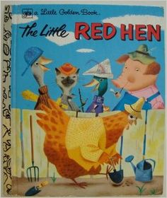 Childhood Memory Keeper: Retro Pop Culture from the and Little Golden Book: The Little Red Hen Old Children's Books, Vintage Children's Books, My Books, Story Books, Vintage Kids, Vintage Stuff, My Childhood Memories, Childhood Toys, Little Red Hen