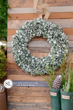 How to Make a Rag Wreath... Could do it in red with a Santa belt?!