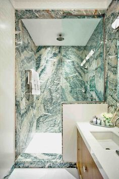 Most Design Ideas Green Marble Bathroom Pictures and Inspiration - Modern House Green Marble Bathroom: Be Inspired By Green Marble Bathroom Ideas To Upgrade Your, Green Marble Bathroom, Carrara Marble Bathroom, Bathroom Wall, Bathroom Ideas, Bathroom Closet, Bath Ideas, Bathroom Designs, White Bathroom, Small Bathroom