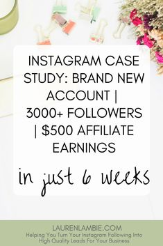 How I earned over $500 in affiliate commissions on a brand new Instagram account in just 6 weeks, growing an instagram account, make money online, affiliate marketing, social media