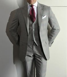 gray and cranberry suit - Google Search