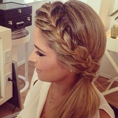 braided crown with side pony