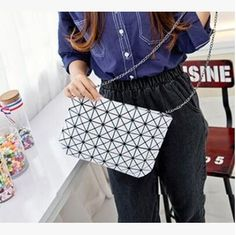 Women messenger bags female hand bags fashion shoulder bag geometrical clutch women crossbody bags