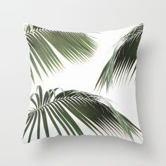Fronds Throw Pillow by Ez Pudewa