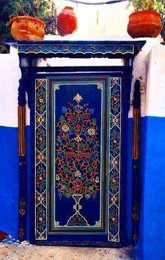 Rabat, Morocco - colorful blue door and entrance Door Entryway, Entrance Doors, Doorway, Cool Doors, Unique Doors, When One Door Closes, Knobs And Knockers, Door Gate, Painted Doors
