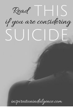 ❤️I'm not considering suicide, but wanted anyone who needs this to see it❤️ Gods love for you is unimaginable, and if you're still here, then you still have a purpose to fulfill