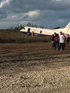 PHOTO Western Air Flight 708 swerves off the runway after landing at Grand Bahama International Airport, Bahamas. (7-FEB-2017). @KwkMedia
