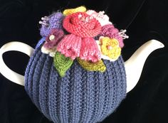 Hand Knitted Tea Cosy, Tea cosies, Tea Cozy cup) by RicketyGates on Etsy Hand Knitting, Knitting Patterns, Tea Cosies, Woolen Mills, Tea Cozy, Cosy, Floral Arrangements, Tatting, Glass Beads